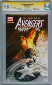 Avengers Invaders #1 Directors Cut CGC 9.8 Signature Series Signed Stan Lee Marvel comic book